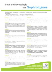 code deontologie sophrologue